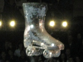 mirrored roller skate at Doll Factory