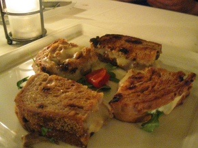 Grilled cheese with short ribs