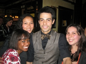 Some of the girls with Figaro's hot bartender