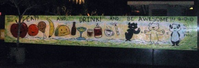 mural at the Standard DTLA