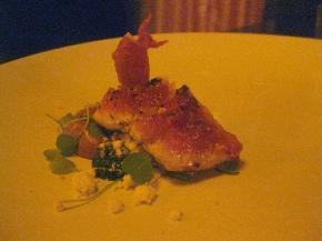 fig- prosciutto, ricotta, marzipan