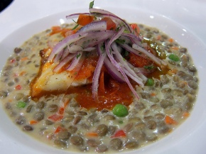 Sea Bass with Lentils