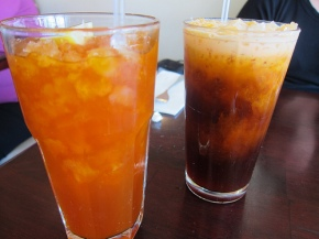 Thai lemon and Thai iced teas