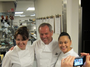 Chefs Sara Johannes, Wolfgang Puck and Sally Camacho