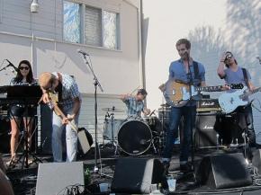 band at the Hudson Block Party