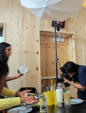 Photographing new menu items at A-Frame