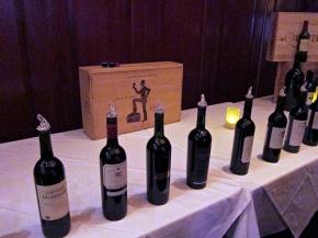 Tasting wine at Fleming's Opening Nights