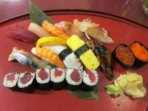 sushi combo at Sushi Go 55