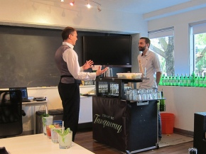 Angus Winchester with Portland bartender Nathan Gerdes