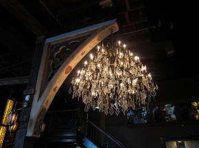 chandelier at Bastille
