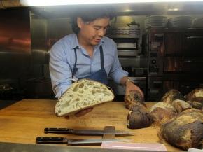 Gary Menes showing off his fantastic bread