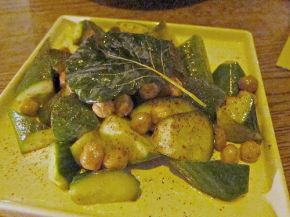 chickpea & cucumber salad at Gorbals