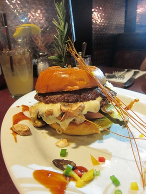 stuffed burger - mushroom & swiss