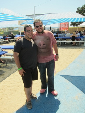 Pig Out Founders Bobby Navarro (100Eats100Days) and Chef Amar Santana, Broadway Restaurant