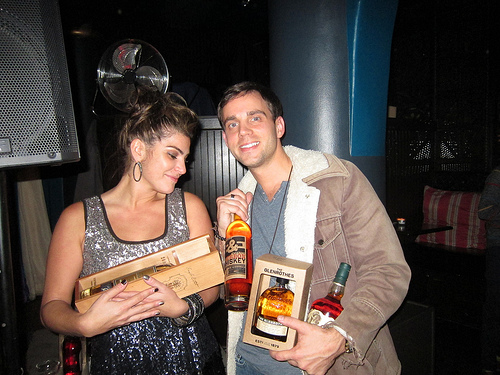 Amanda with the Tequila Ocho Extra Anejo and Jeremy with the rest