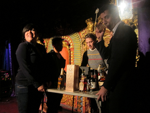 How many bartenders does it take to move the booze table?