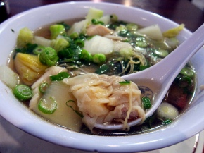 house special wonton noodles soup at Uncle John's Cafe