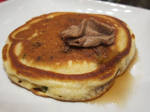 jalepeno pancakes with cinnamon butter
