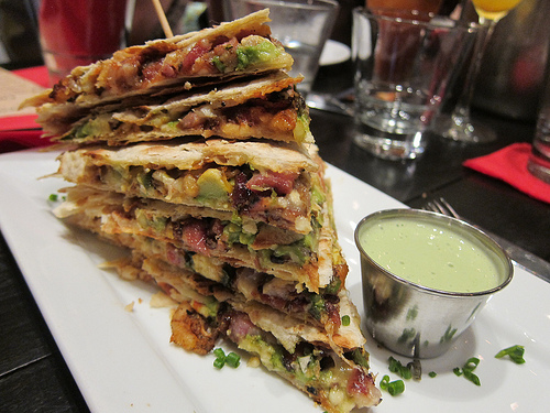 shrimp & bacon quesadilla
