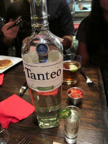 Jalepeno-infused Tanteo tequila