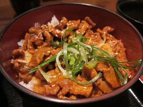 spicy pork bowl