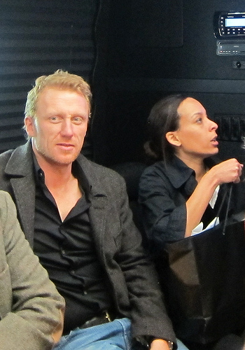 on the party bus with Kevin McKidd
