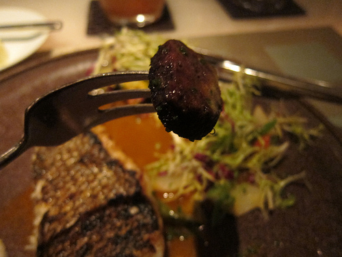 blood sausage from bass