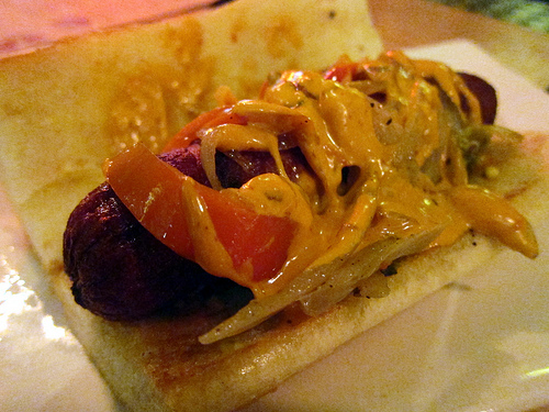 Happy Hour at UMAMIcatessen- street dog