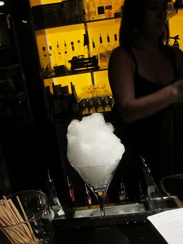 cotton candy for the Magic Mojito