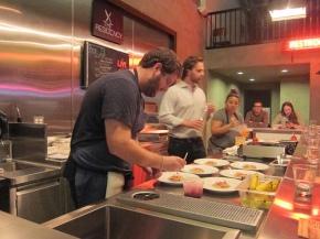 Chef Micah Wexler plating