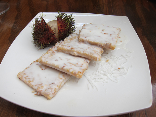 chili sesame cookies with coconut glaze