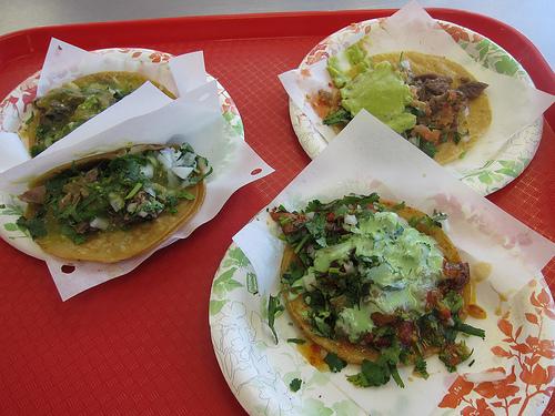 various tacos