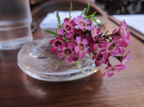 centerpiece at Hinoki & the Bird