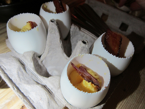 maple bacon eggs