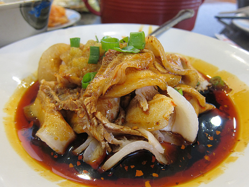 boiled fatty pork slices in chili sauce
