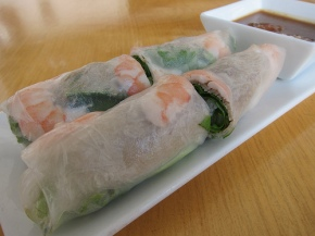 shrimp and pork spring rolls