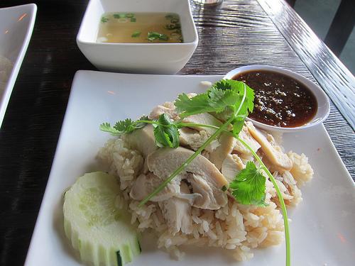 Hainan chicken, Thai style