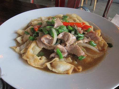 pork with crispy noodles