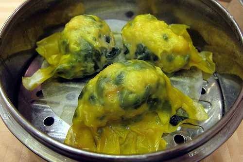 shrimp & spinach dumplings