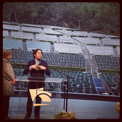 Conductor Dudamel speaking about the upcoming Hollywood Bowl season