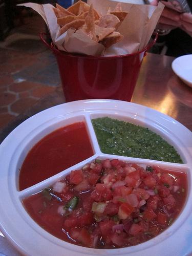 trio of salsas