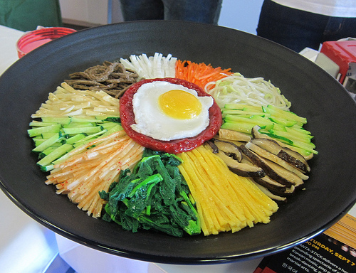 model of bibimbap
