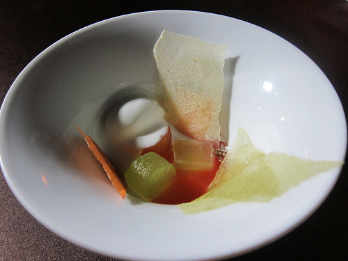 melon dessert from Patina