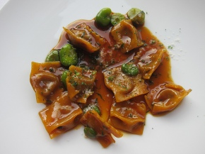 braised veal and bone marrow anglotti at Scarpetta