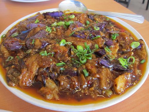 homestyle eggplant - spicy