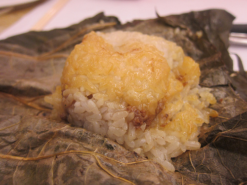 lotus wrapped rice