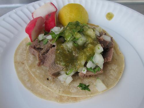 lengua taco from La Estrella