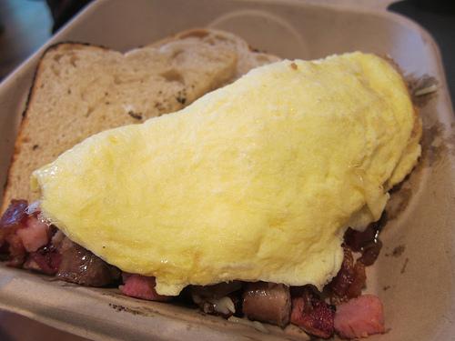 meat lovers' omelette