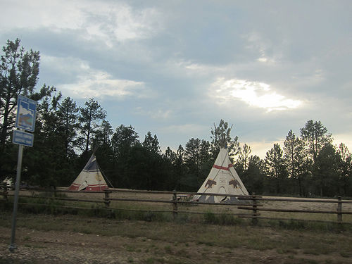 teepees at Zion