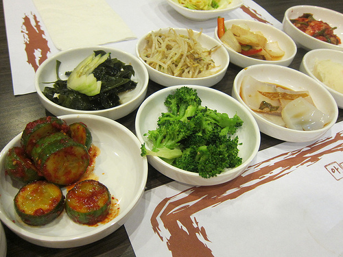 banchan at A Ri Rang
